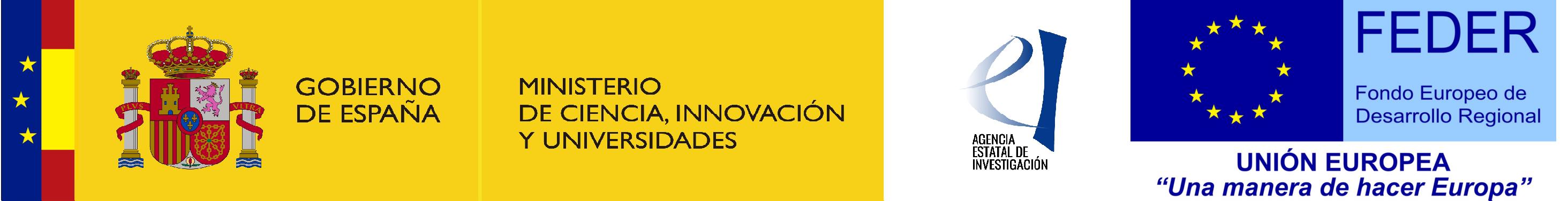 Ministerio de Ciencia, Innovación y Universidades – Agencia Estatal de Investigación; FEDER/ERDF